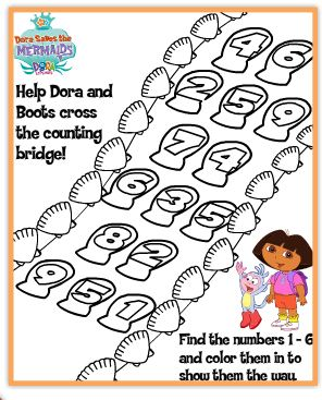 dora thanksgiving coloring pages - free nick jr activities and printables