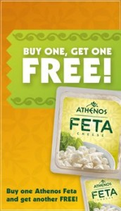 B1G1 Athenos Feta Cheese Coupon
