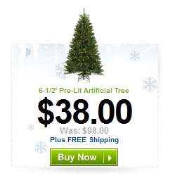holiday living 65 spruce artificial christmas tree - Christmas Tree Shop Online