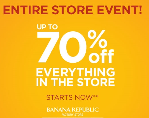 Browse for Banana Republic coupons valid through October below. Find the latest Banana Republic coupon codes, online promotional codes, and the overall best coupons posted by our team of experts to save you up to 40% off at Banana Republic.
