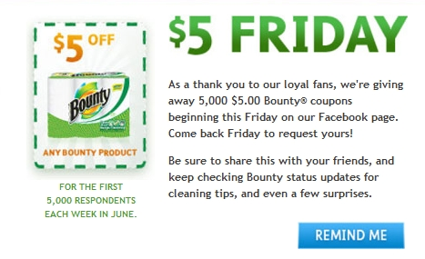 June Friday Deal For Bounty Paper Towels