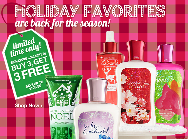 B3b3 Signature Collection Items And Bath And Body Works