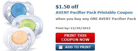 Avent pacifier coupons printable 2018