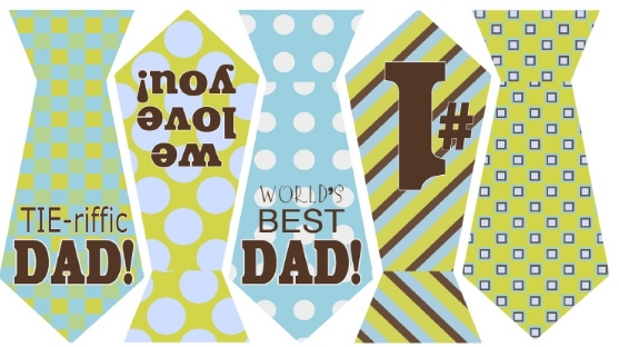 photograph relating to Happy Father's Day Banner Printable titled Cost-free Fathers Working day Tie Banner