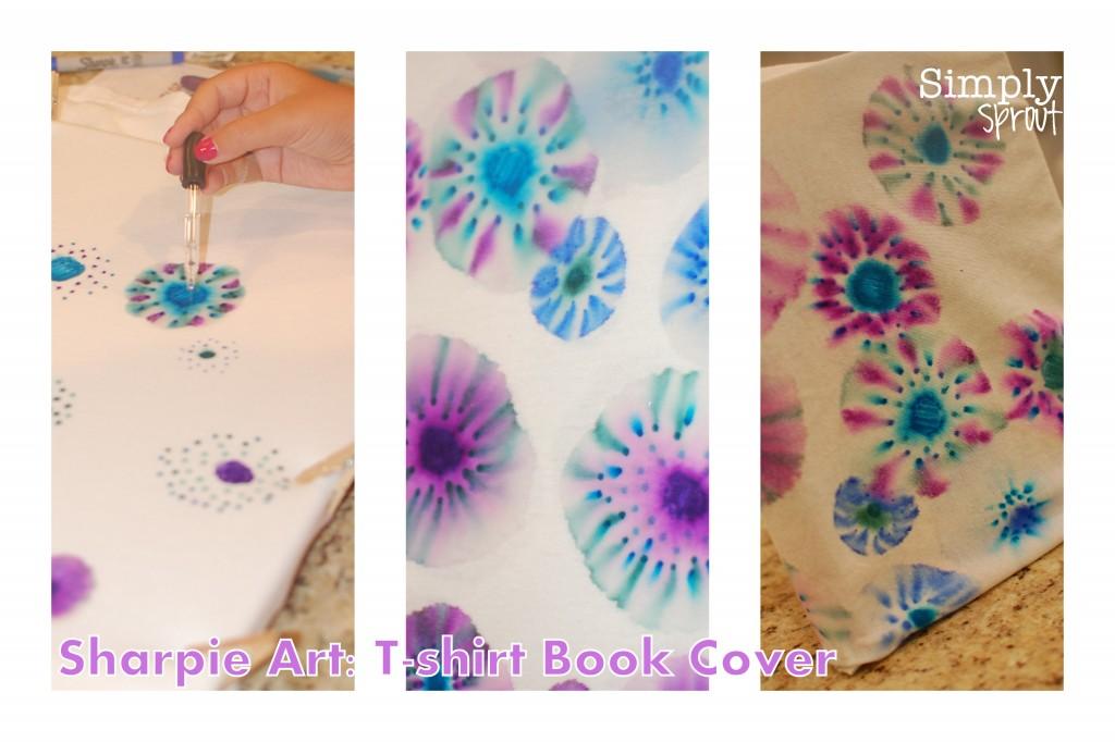 School Book Cover Art Ideas : Back to school sharpie tie die book cover art