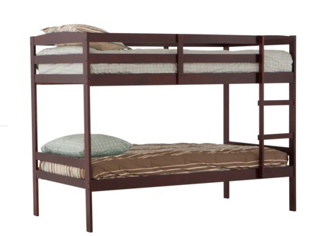 Get a wooden bunk bed in cherry from target online for for Target loft bed