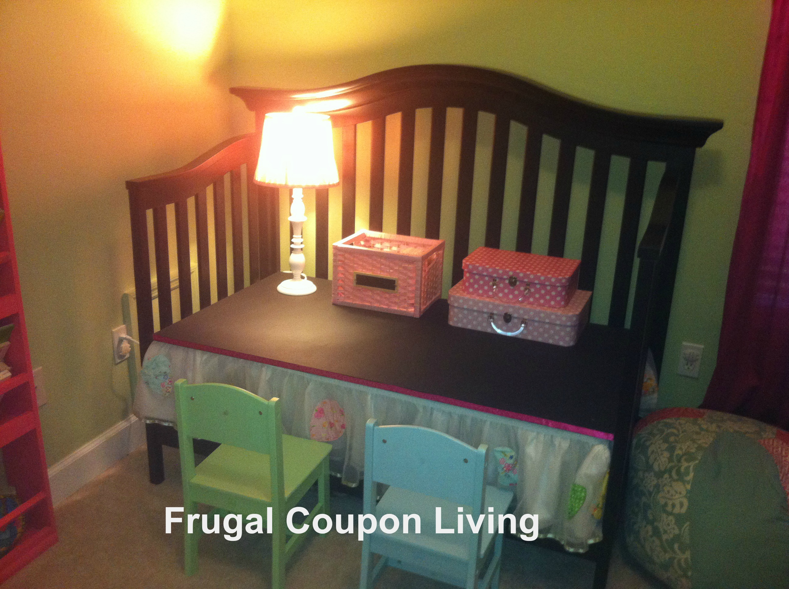 Reuse A Crib Into A Child S Desk With This Do It Yourself