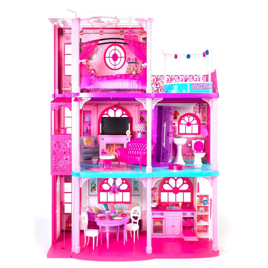 Have a look at the barbie 3 story dream townhouse for 131 74 right