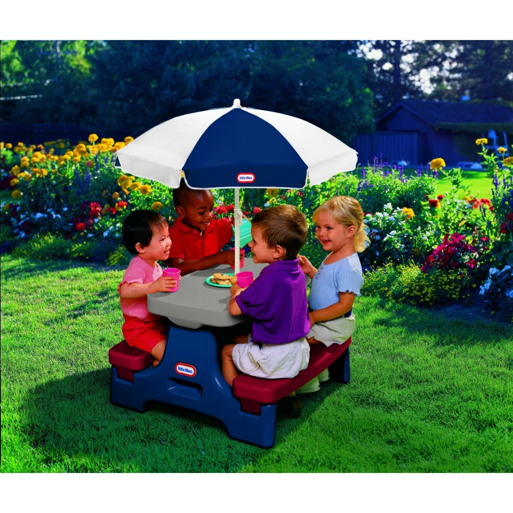Little tikes picnic table with umbrella 50 - Children s picnic table with umbrella ...