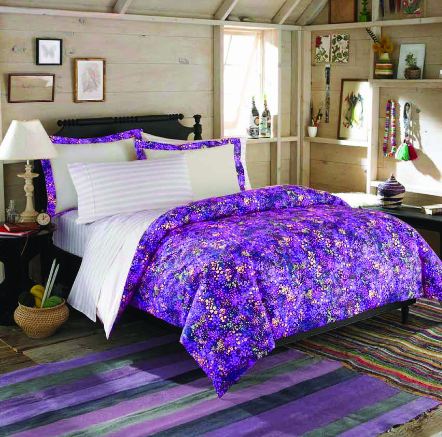 Get teen vogue full queen comforter set for 65 shipped for Bedding violet
