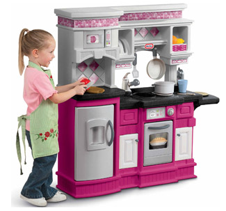 Pink Play Kitchen Set Get The Little Tikes Gourmet Prep And Serve Kitchen For $79 Shipped.