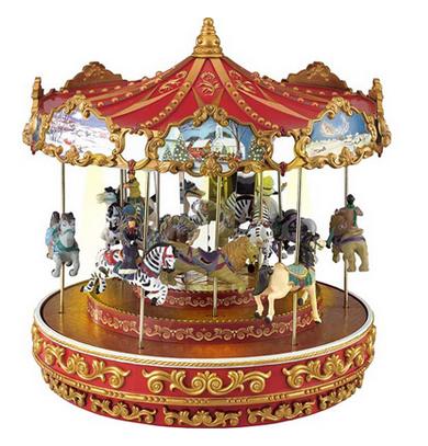 Christmas Triple Decker Musical Animated Carousel $59.99 ...