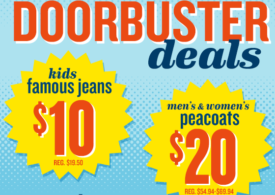 If ...  sc 1 st  Frugal Coupon Living & Old Navy Doorbusters - $10 Jeans and $20 Peacoats + $10 Coupon!