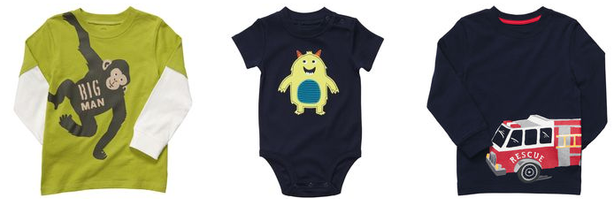 carters baby boy tees