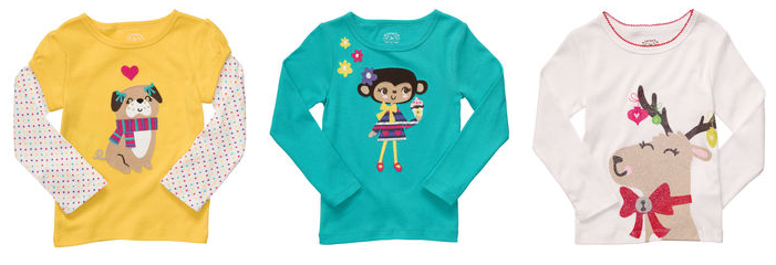 carters baby girl graphic tees