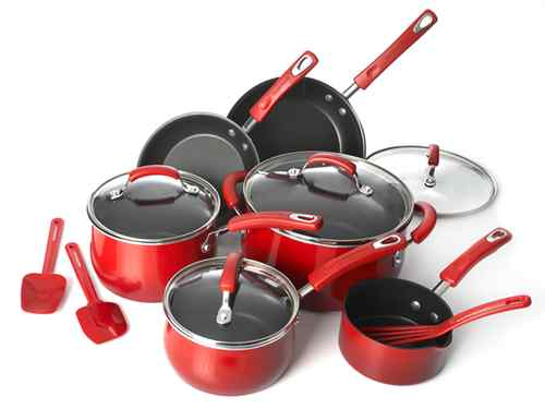 ebay rachael ray red cookware set