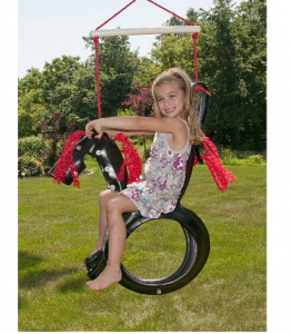 hot tractor  pony tire swing