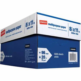 staples box of copy paper