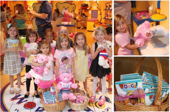 BuildABear Workshop Birthday Party with Doc McStuffins Theme
