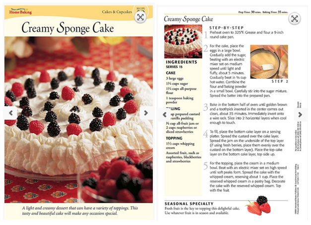 Cake Recipe Shipped Cream Fruit