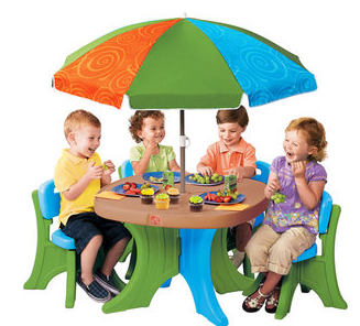 Step 2 Deluxe Play & Shade Kids Patio Set - $65 from $79 ...