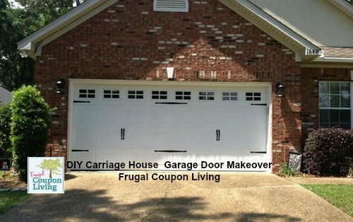 Diy garage door makeover easy chep and affordable do it yourself garage door makeover frugal coupon solutioingenieria Images