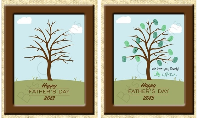 fingerprint father s day printable tree craft 2 50
