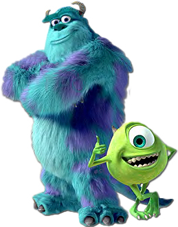 Monster Inc Sully And Mike Giant 3D Statues Minecraft
