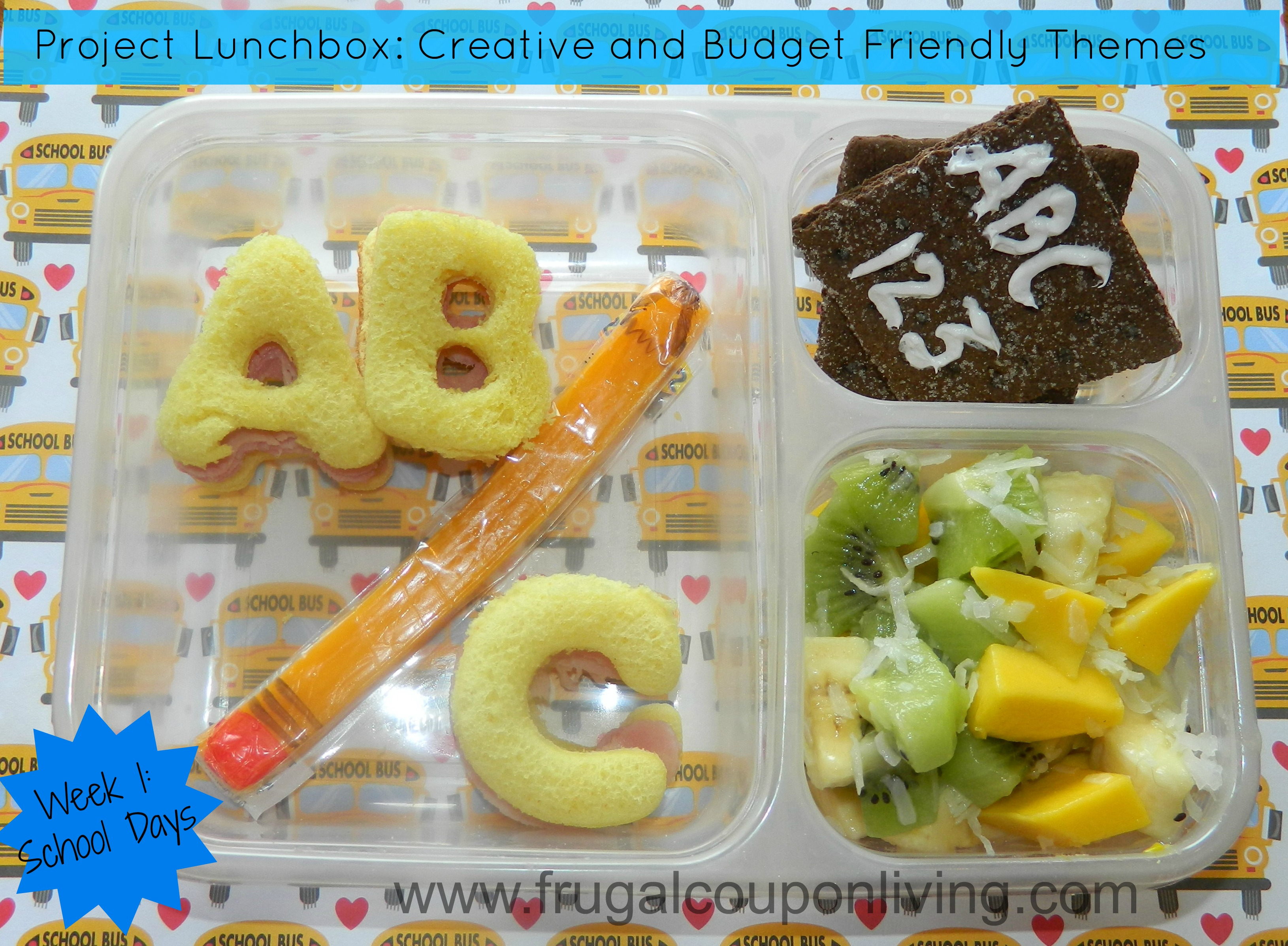 back to school school days abc theme lunchbox and bento box. Black Bedroom Furniture Sets. Home Design Ideas