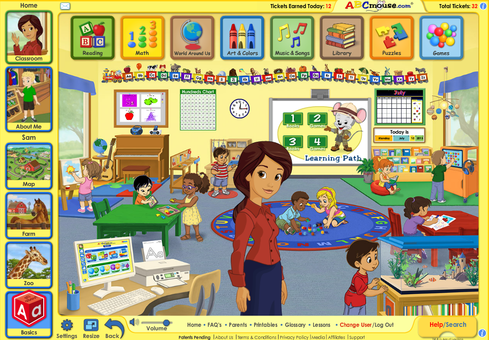 on line educational games for kids