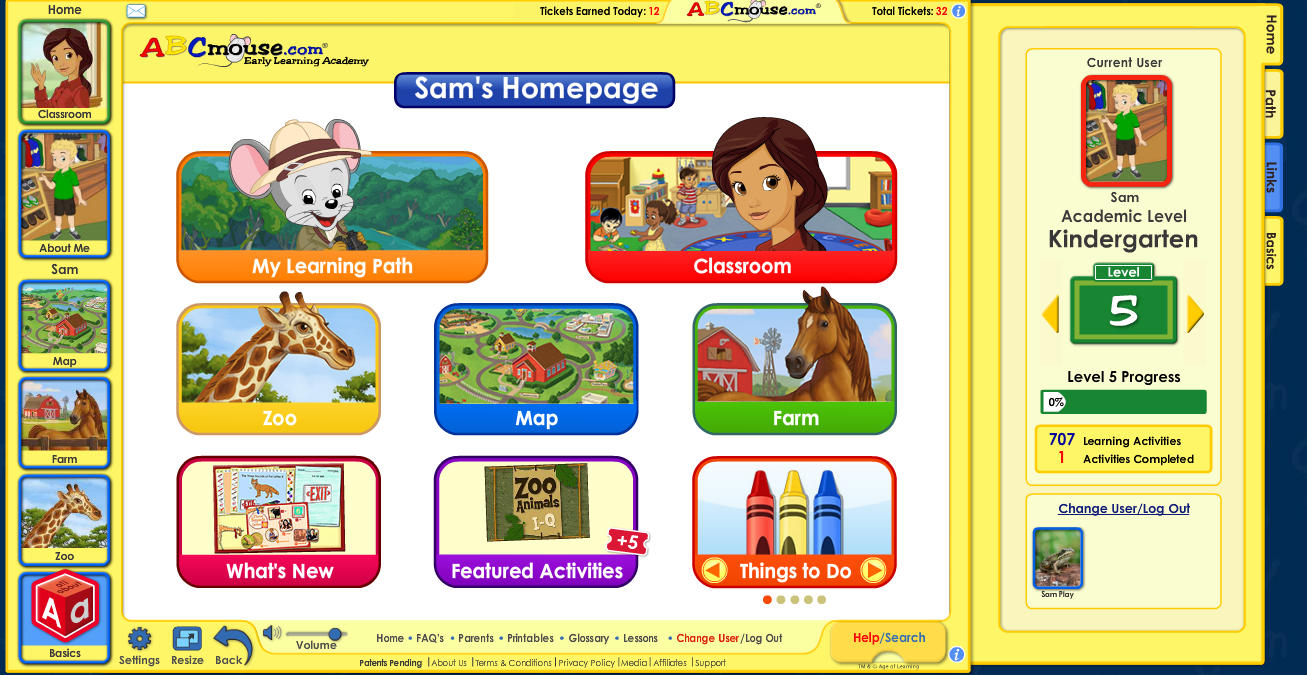 Online Learning for Kids with Educational Games at ABCmouse