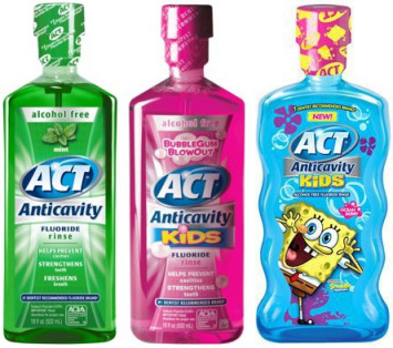 $0 bill  ACT Mouthwash Only $0.74