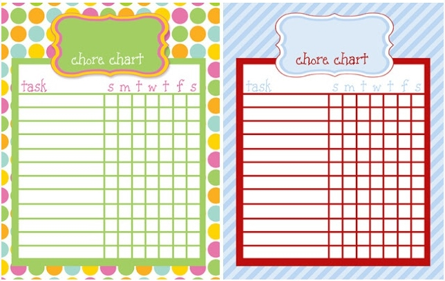 Free Online Kids Chore Chart  Teach Kids About Work And Money