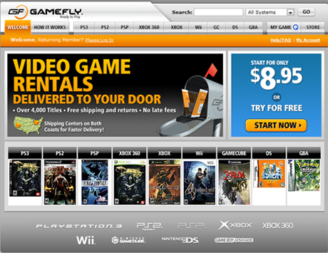 Ten-Day FREE Trial to Gamefly - Thousands of Games, No Late