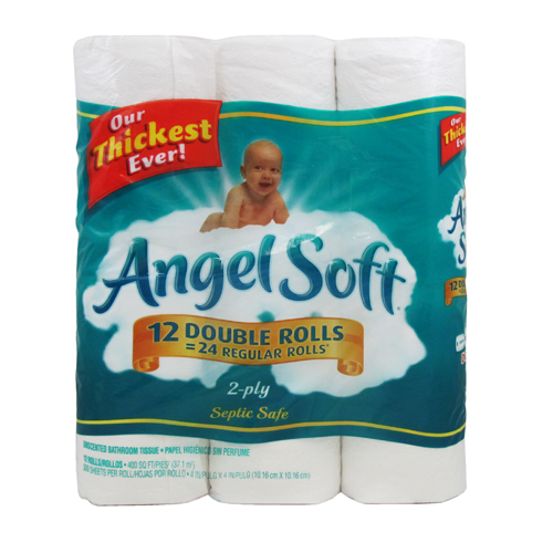 angel soft 12rl. Angel Soft Bath Tissue     17 per single roll at Walmart