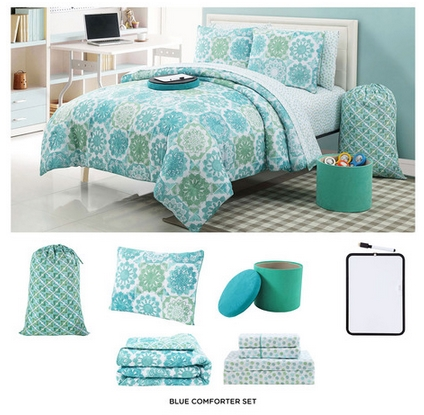 nine piece dorm room xl sized twin bedding set 61 shipped from 229