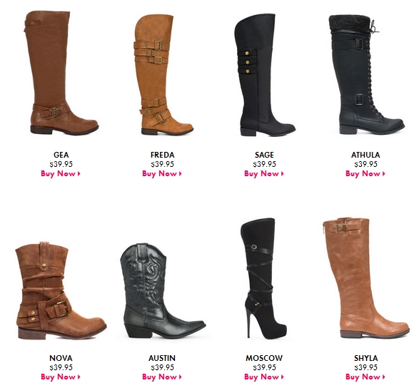 Fall Boots Sale - B1G1 Savings or Grab Two Pairs $19.96 Each Shipped