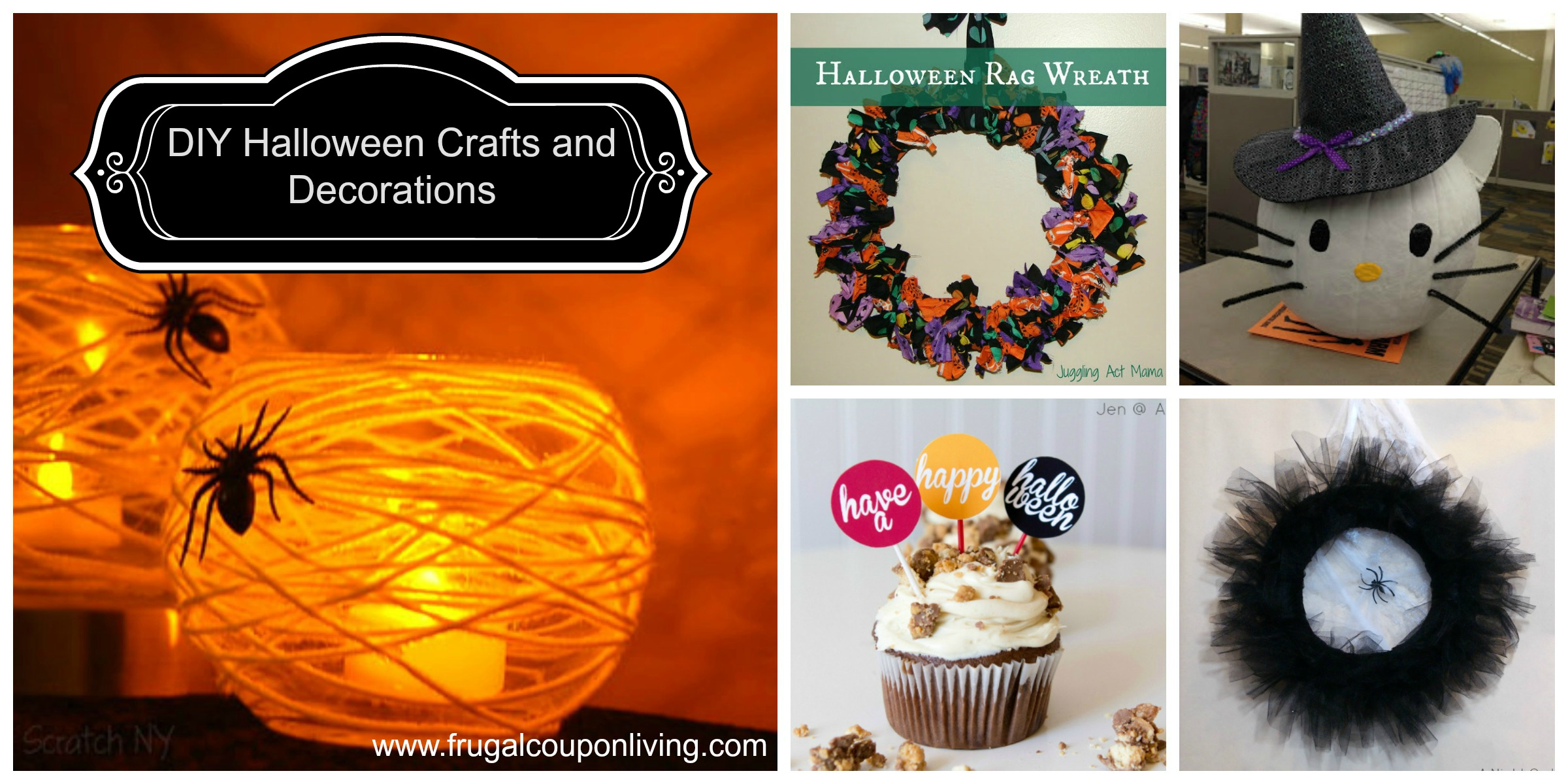 diy halloween crafts and decorations frugal coupon livingjpg - Craft Halloween Decorations