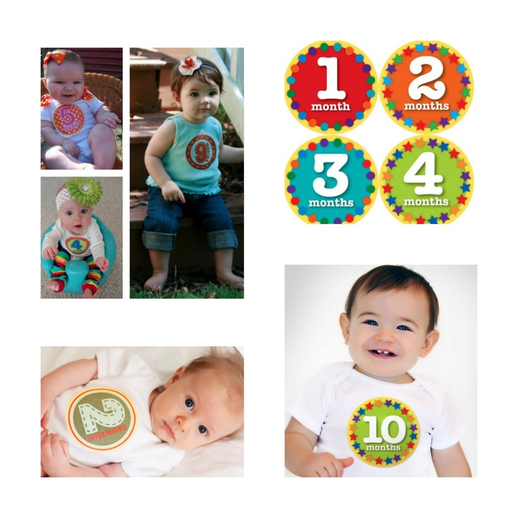 Monthly Onesie Stickers Bellies Baby Monthly Milestone