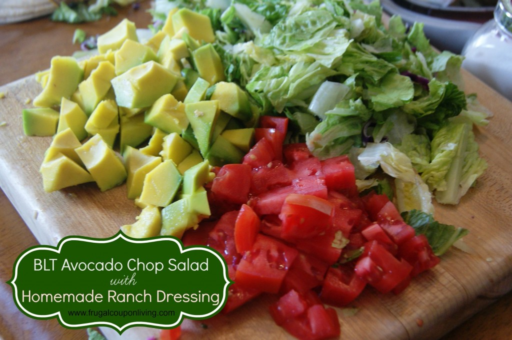 BLT Salad With Avocados And A Blue Cheese Dressing Recipe — Dishmaps