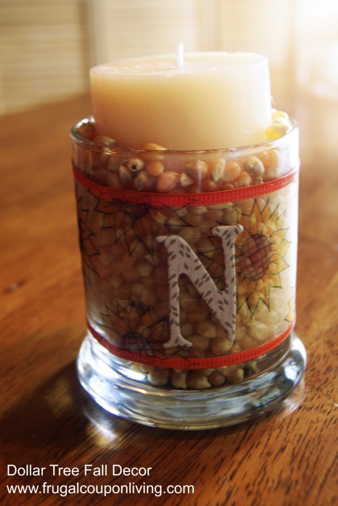 Dollar Tree Fall Decor Decorate With Autumn Candles On A
