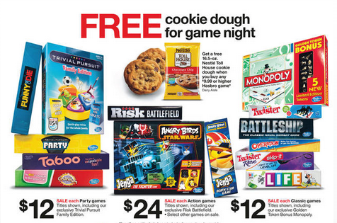 free cookie dough game night