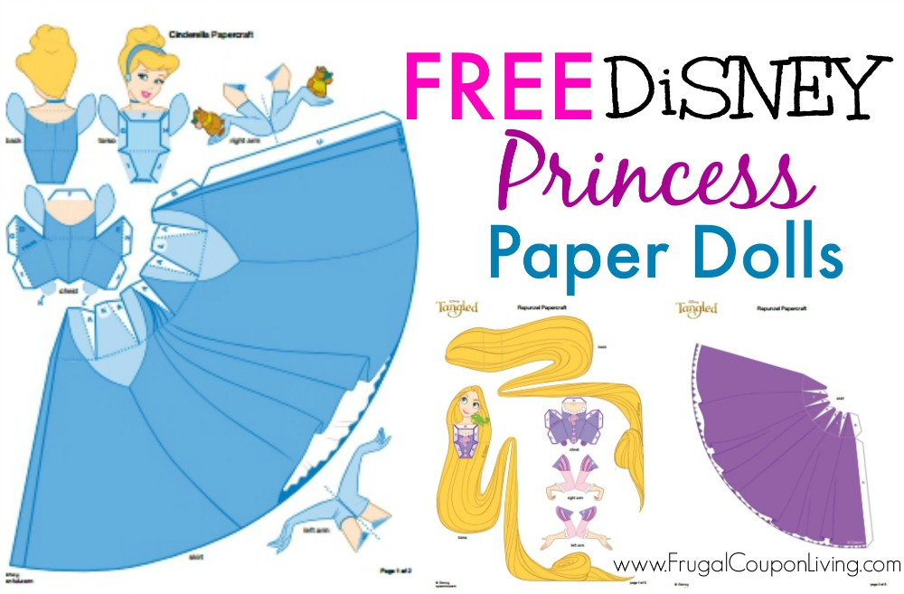 free disney paper dolls   printable princesses