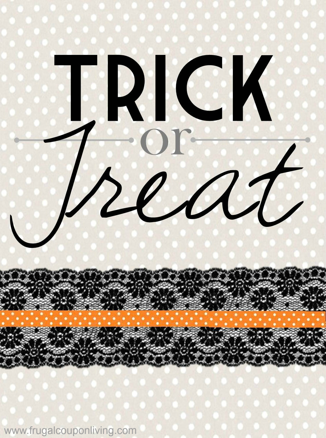 free halloween printable trick or treat sign download