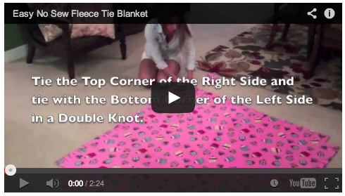 No Sew T-Shirt Blanket Tutorial #DIY #Pinterest #Craft