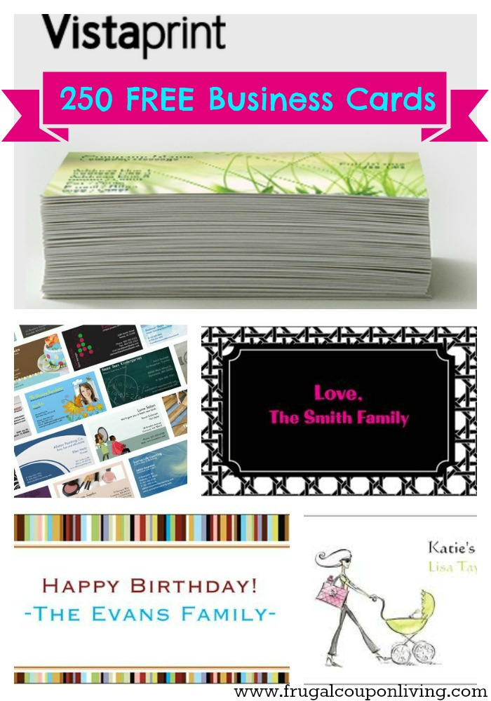 250 FREE Business Cards, Gift Tags or Mommy and Me Cards