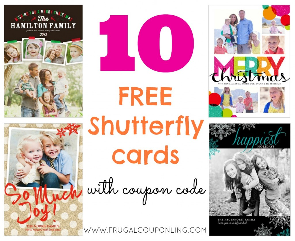10 FREE Shutterfly Cards Ends 11/27 - Christmas Cards!