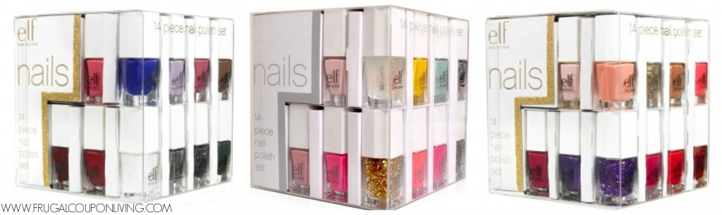 Holiday e.l.f. Essential 14-piece Nail Cube $10 - Hot Stocking Stuffer
