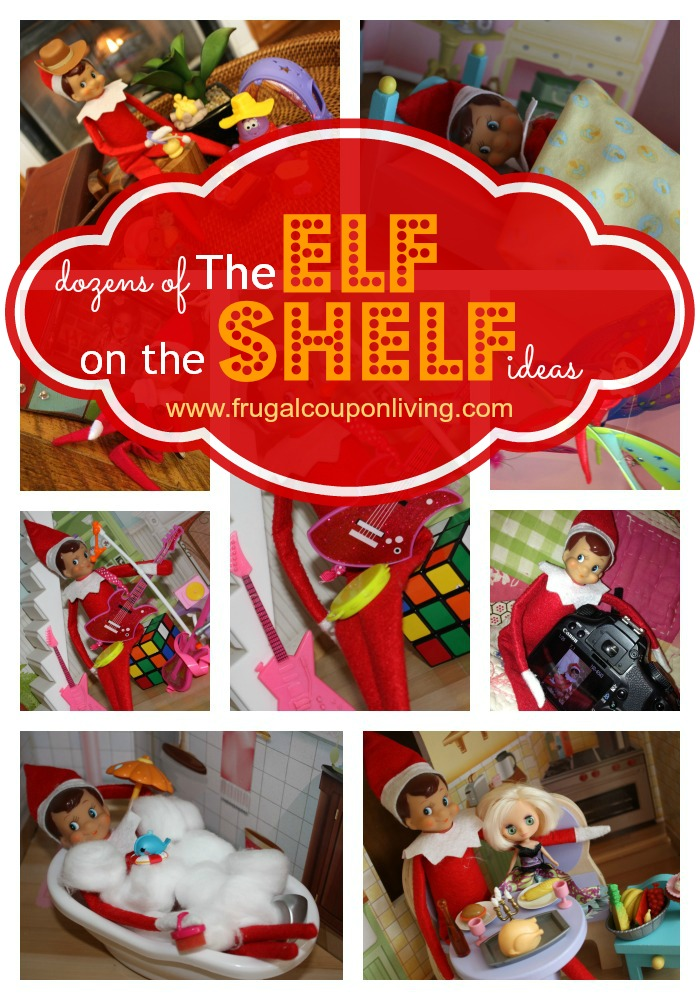 See some of the cutest elf on the shelf ideas for the upcoming holiday
