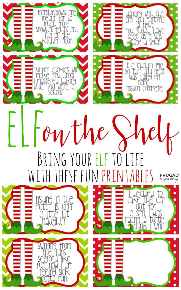 graphic relating to Free Elf Printable titled Cost-free Elf upon The Shelf Printable Notes